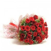 Bunch of 30 red roses.